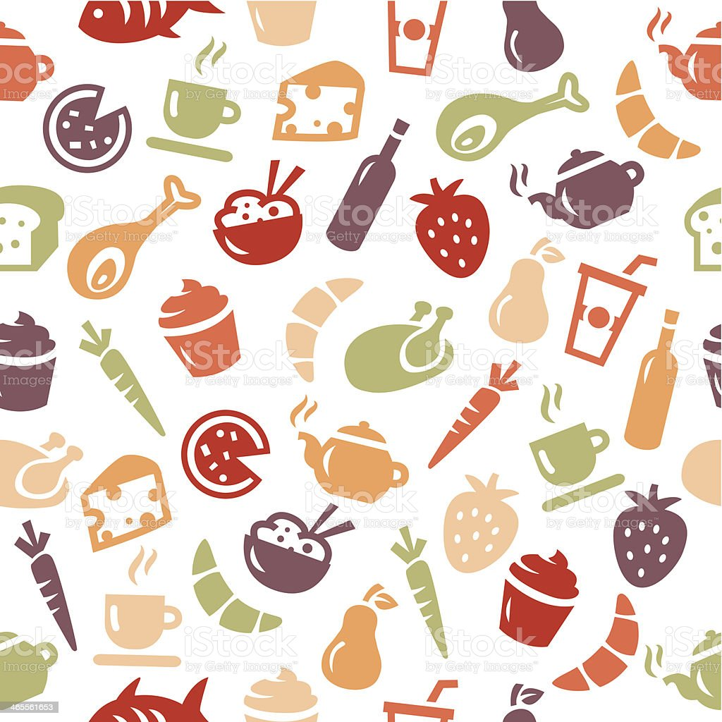 Food background - seamless pattern royalty-free stock vector art