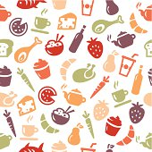 Food background - seamless pattern