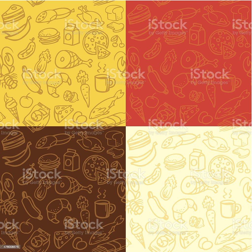 Food background vector art illustration