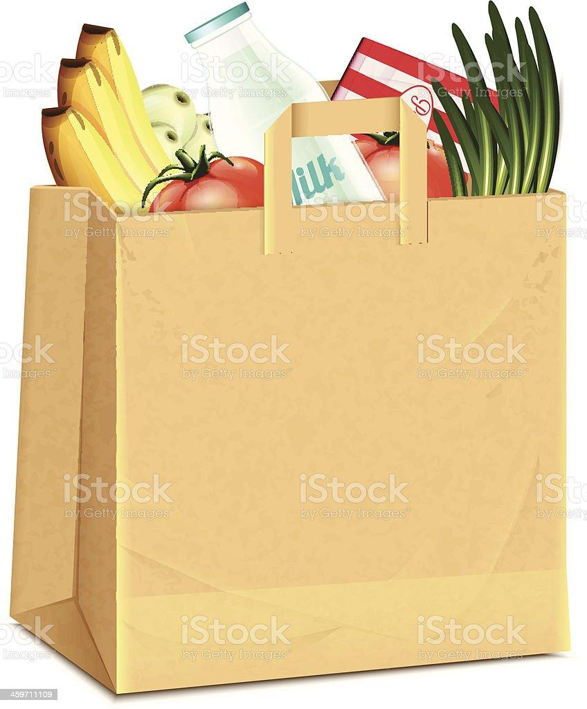Food Bag vector art illustration