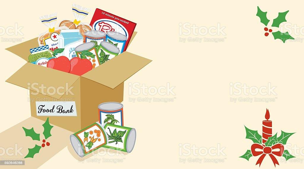 Food Bank Donation Concept Banner vector art illustration