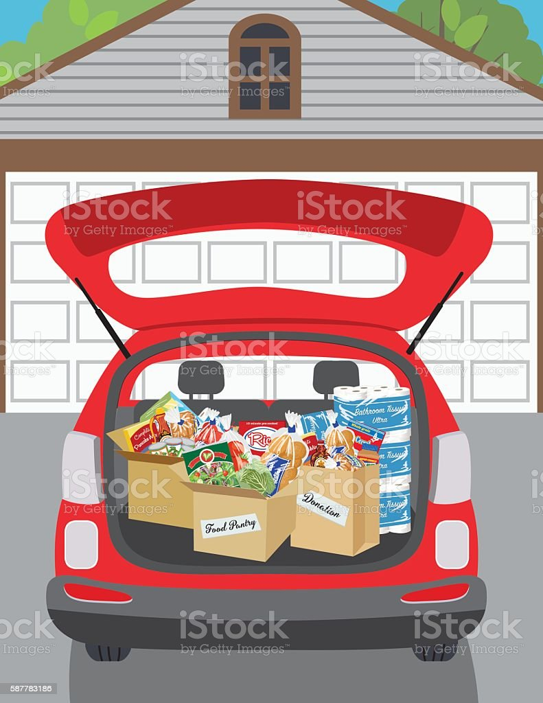 Food Bank Donation Concept vector art illustration