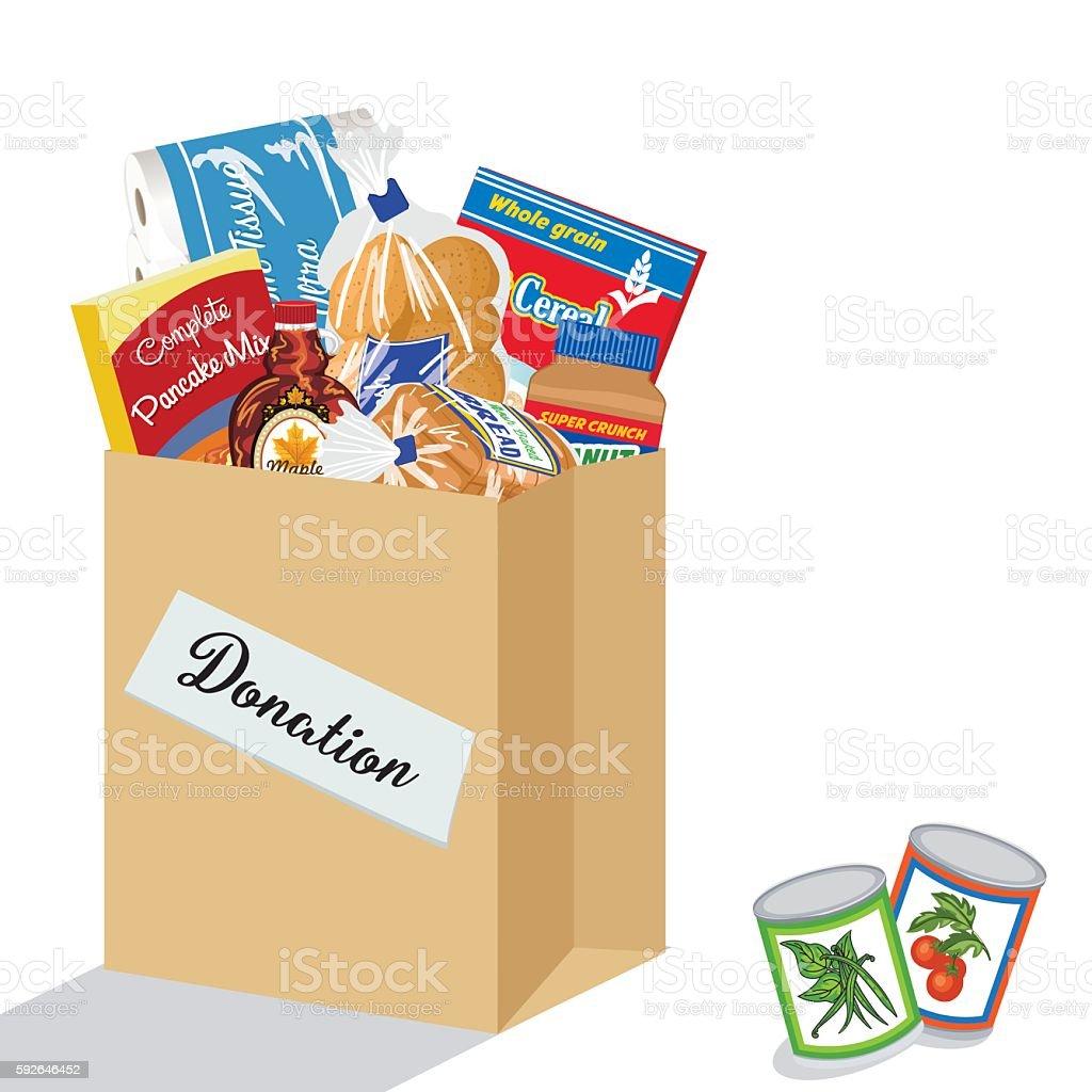 Food Bank Donation Concept vector art illustration