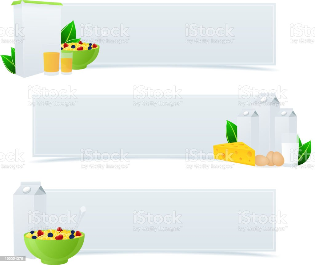 Food Banners royalty-free stock vector art