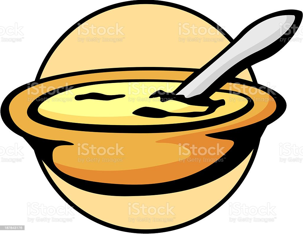 food bowl with spoon royalty-free stock vector art