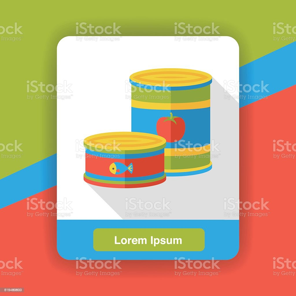 food can flat icon vector art illustration