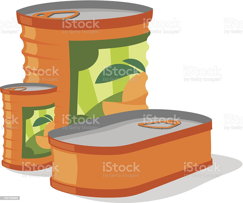 Food can vector art illustration