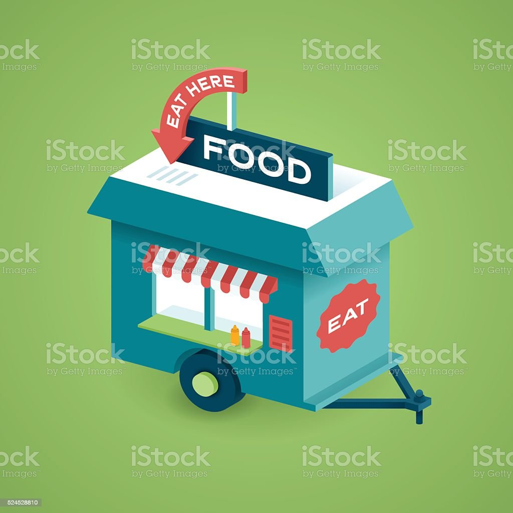 Food Cart vector art illustration