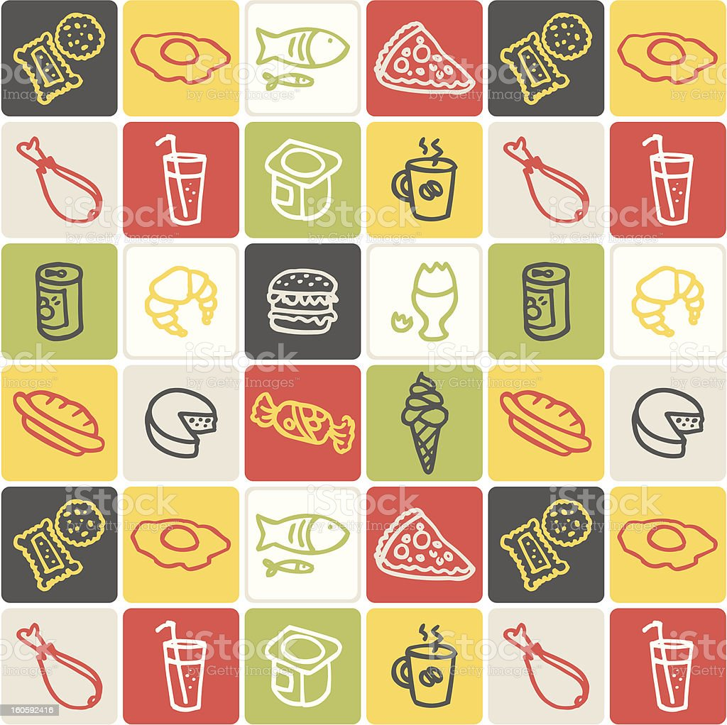 Food checked pattern royalty-free stock vector art