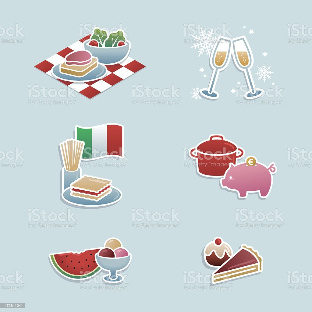Food concepts icons royalty-free stock vector art