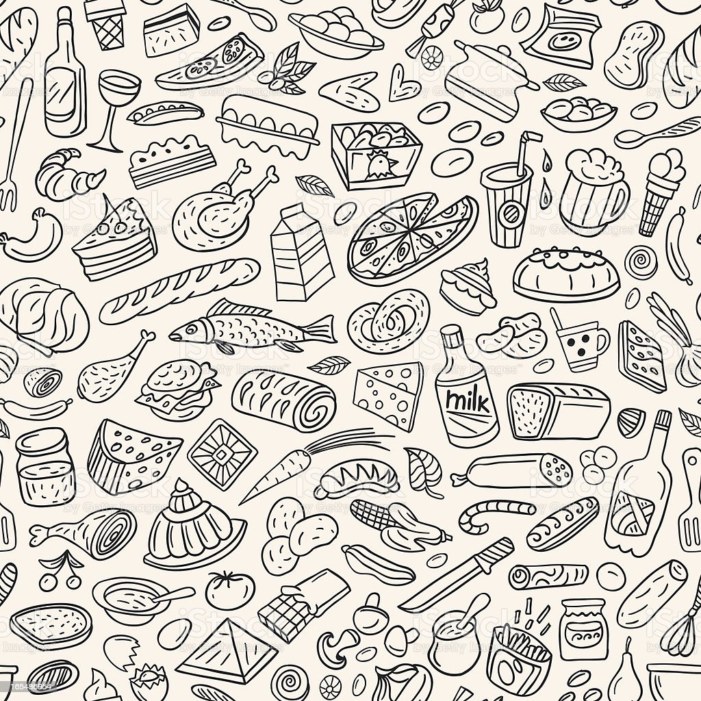 food ,cookery - seamless vector pattern royalty-free stock vector art