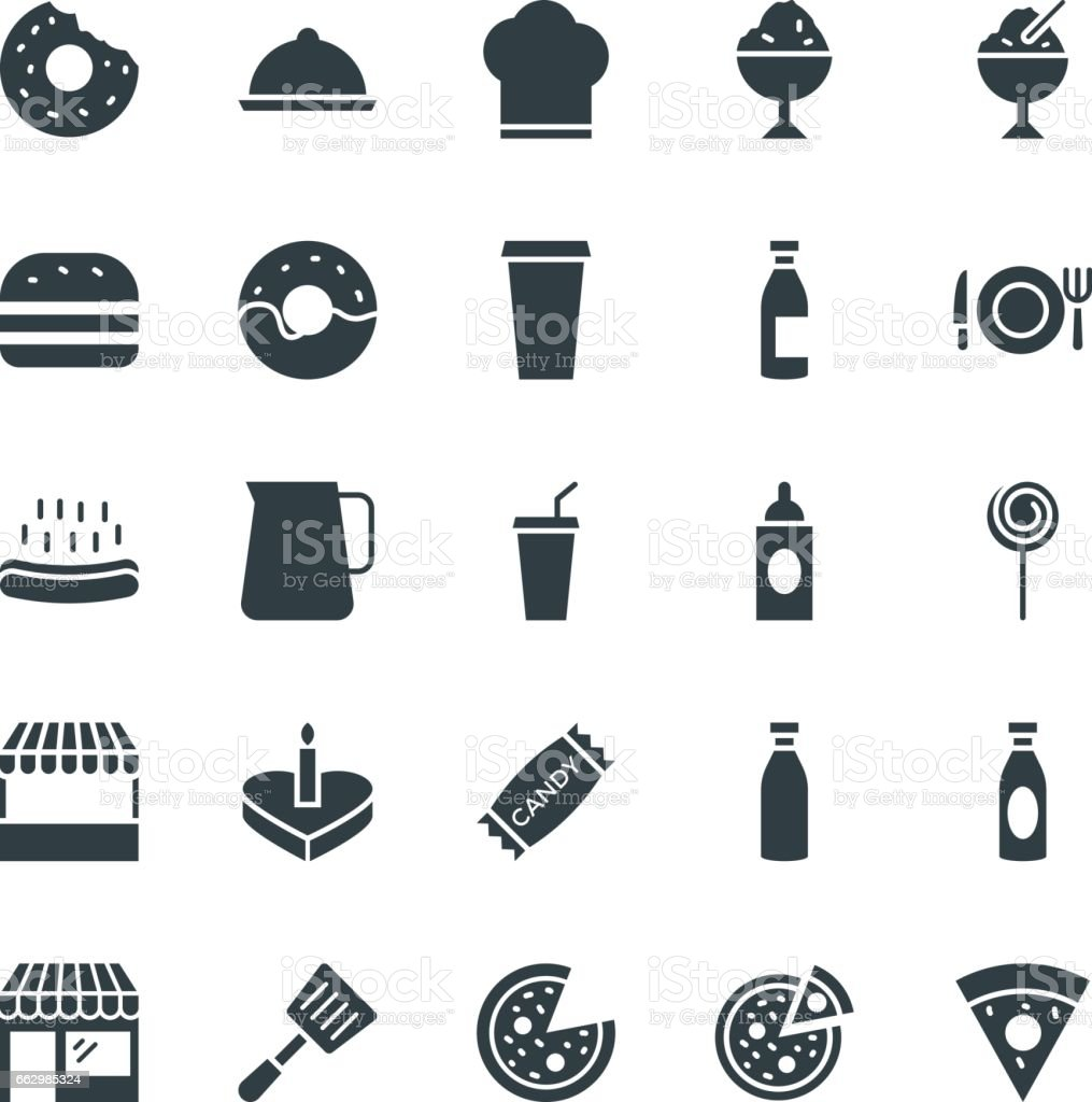 Food Cool Vector Icons 2 vector art illustration
