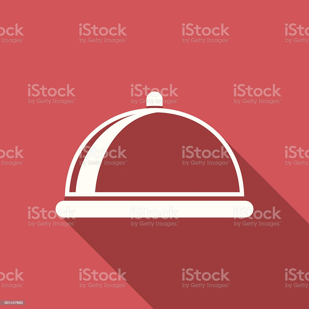 food cover icon vector art illustration