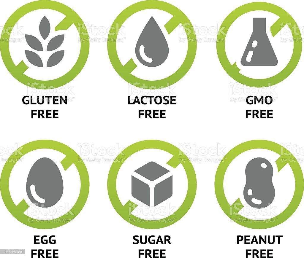 Food Dietary Labels vector art illustration