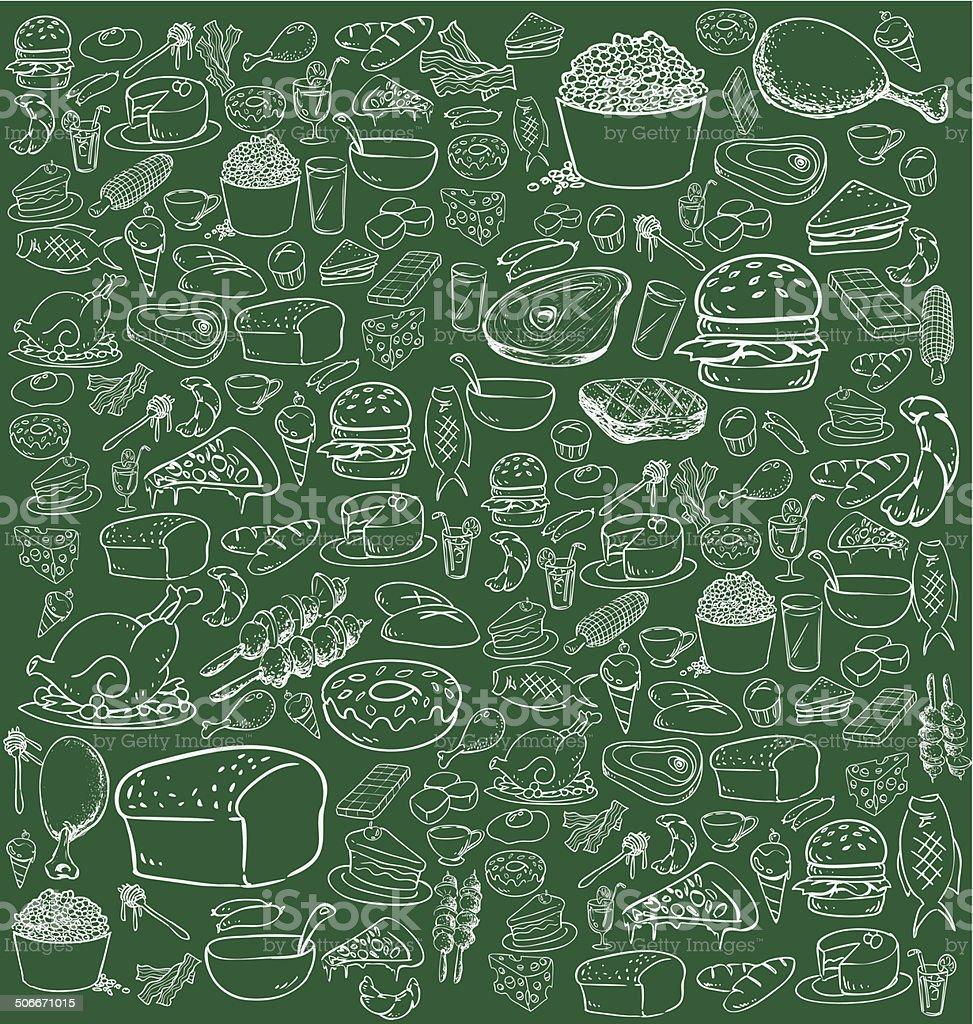 Food Doodle vector art illustration