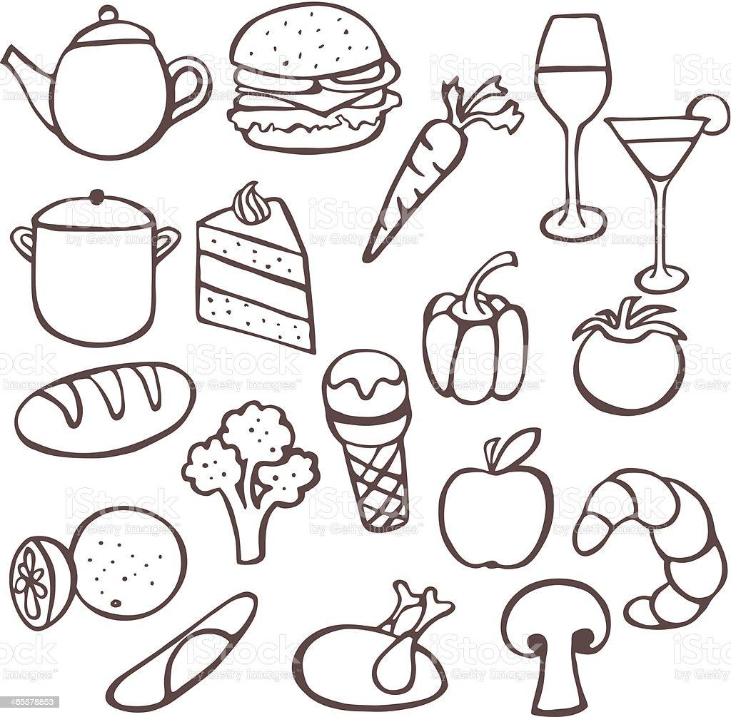 Food Doodles royalty-free stock vector art