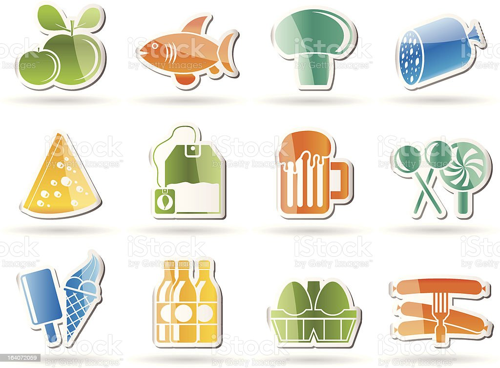food, drink and shop icons royalty-free stock vector art