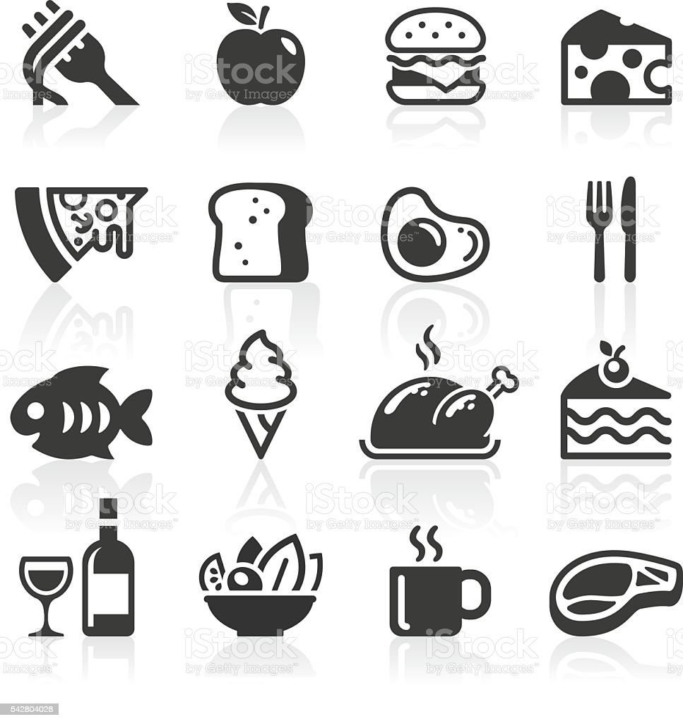 Food & Drink Icons vector art illustration