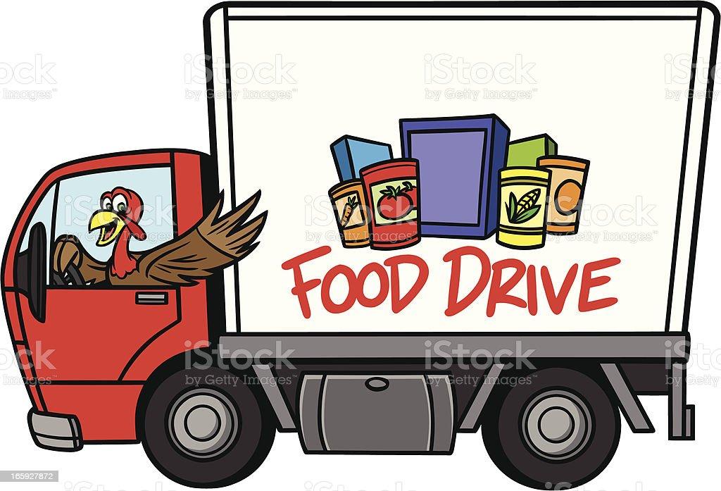 Food Drive royalty-free stock vector art