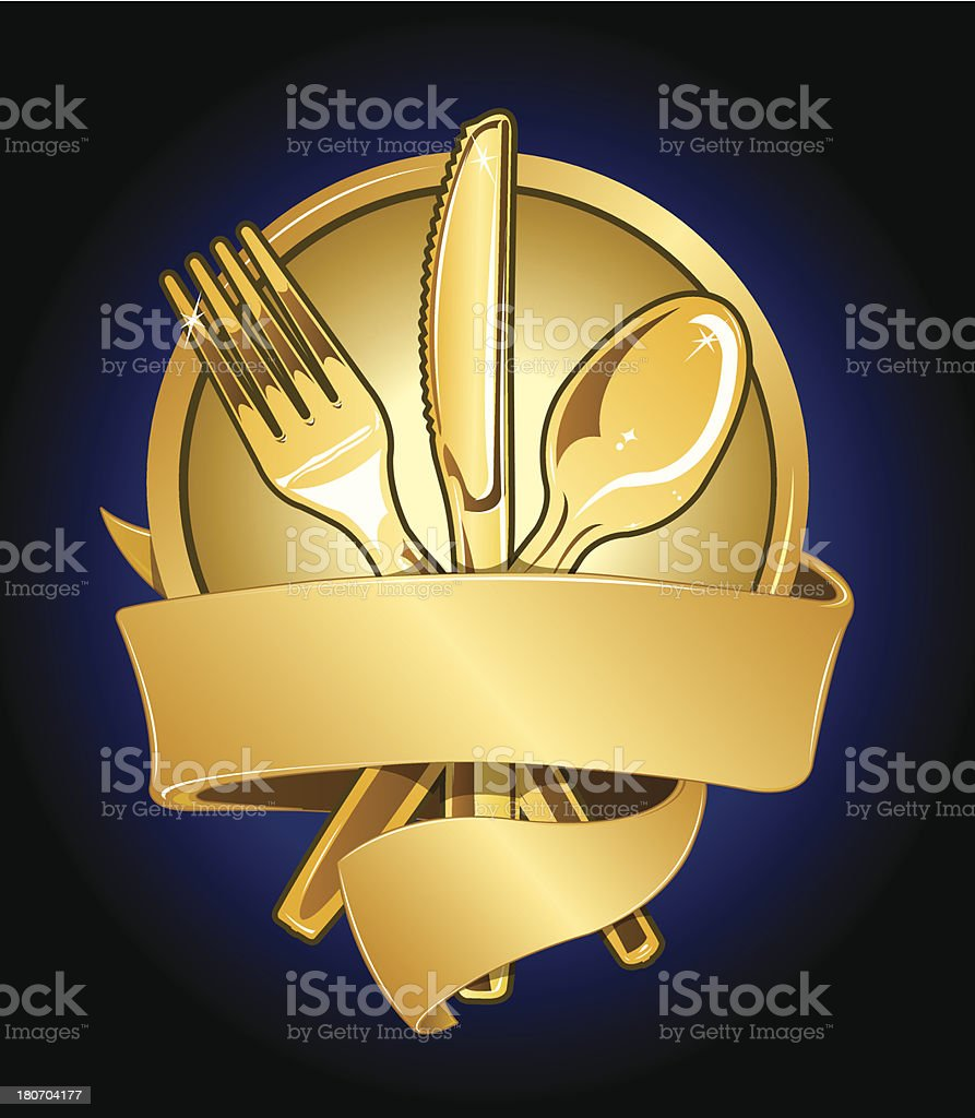 Food Festival Award Design with Banner royalty-free stock vector art