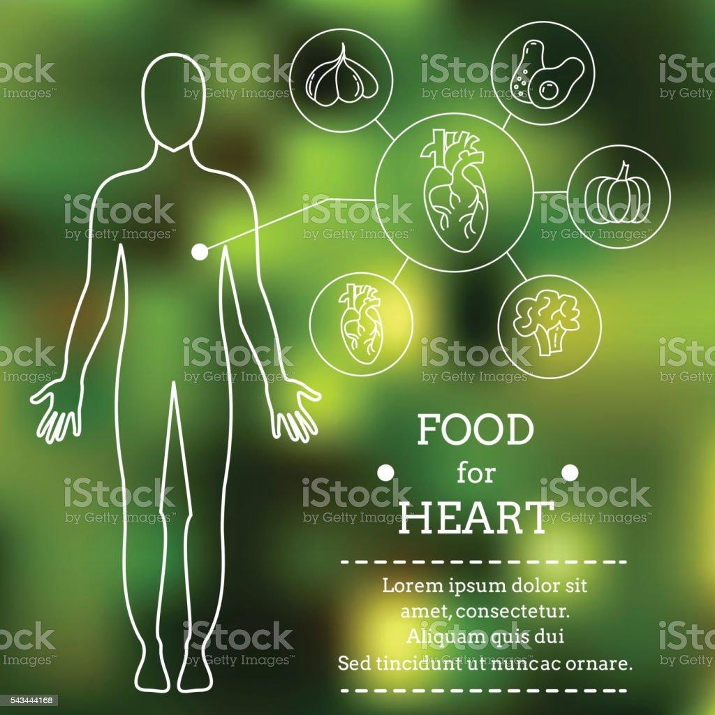 Nourriture pour cœur.   stock vecteur libres de droits libre de droits