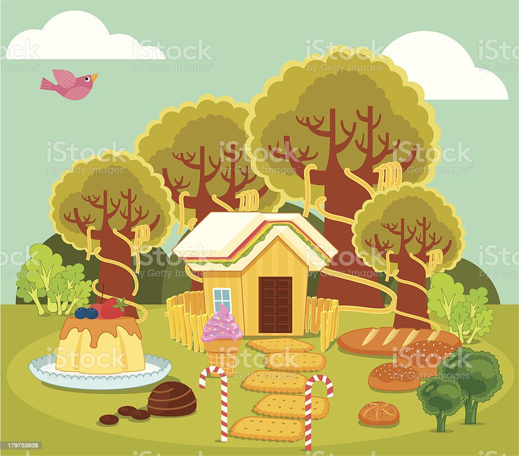 Food forest royalty-free stock vector art
