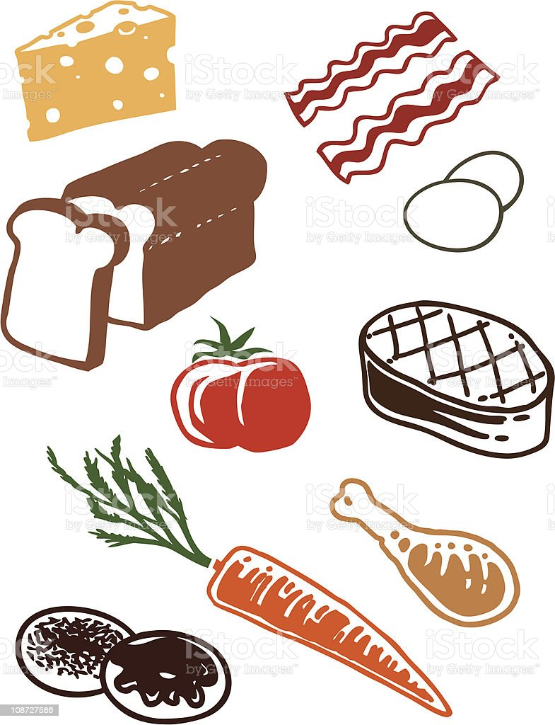 Food Group1 royalty-free stock vector art