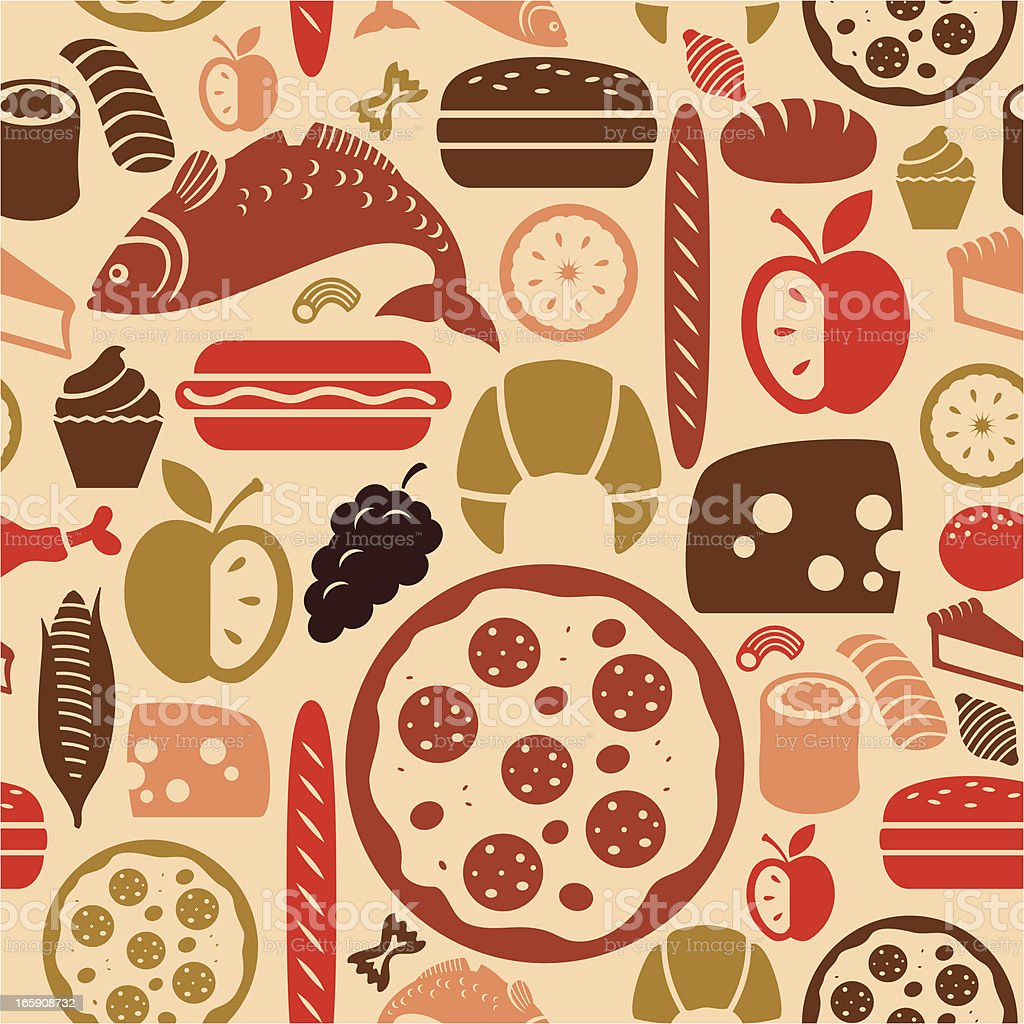 Food Icon Pattern royalty-free stock vector art