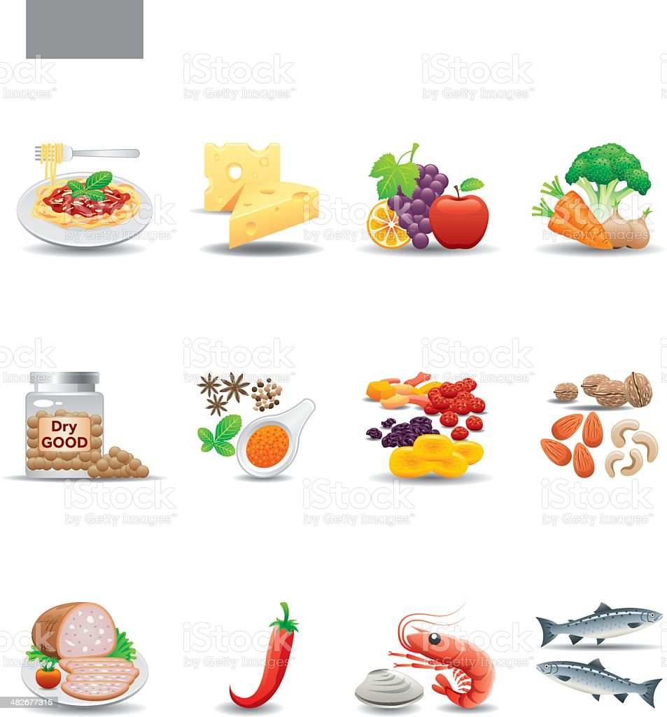Food Icon Set | Elegant Series vector art illustration
