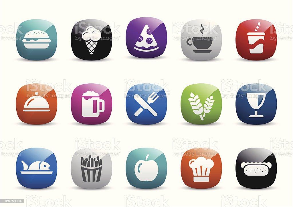 Food Icon Set royalty-free stock vector art