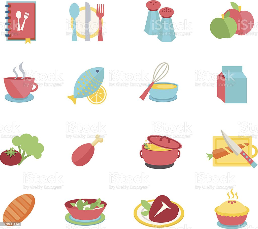 Food icon set royalty-free stock vector art