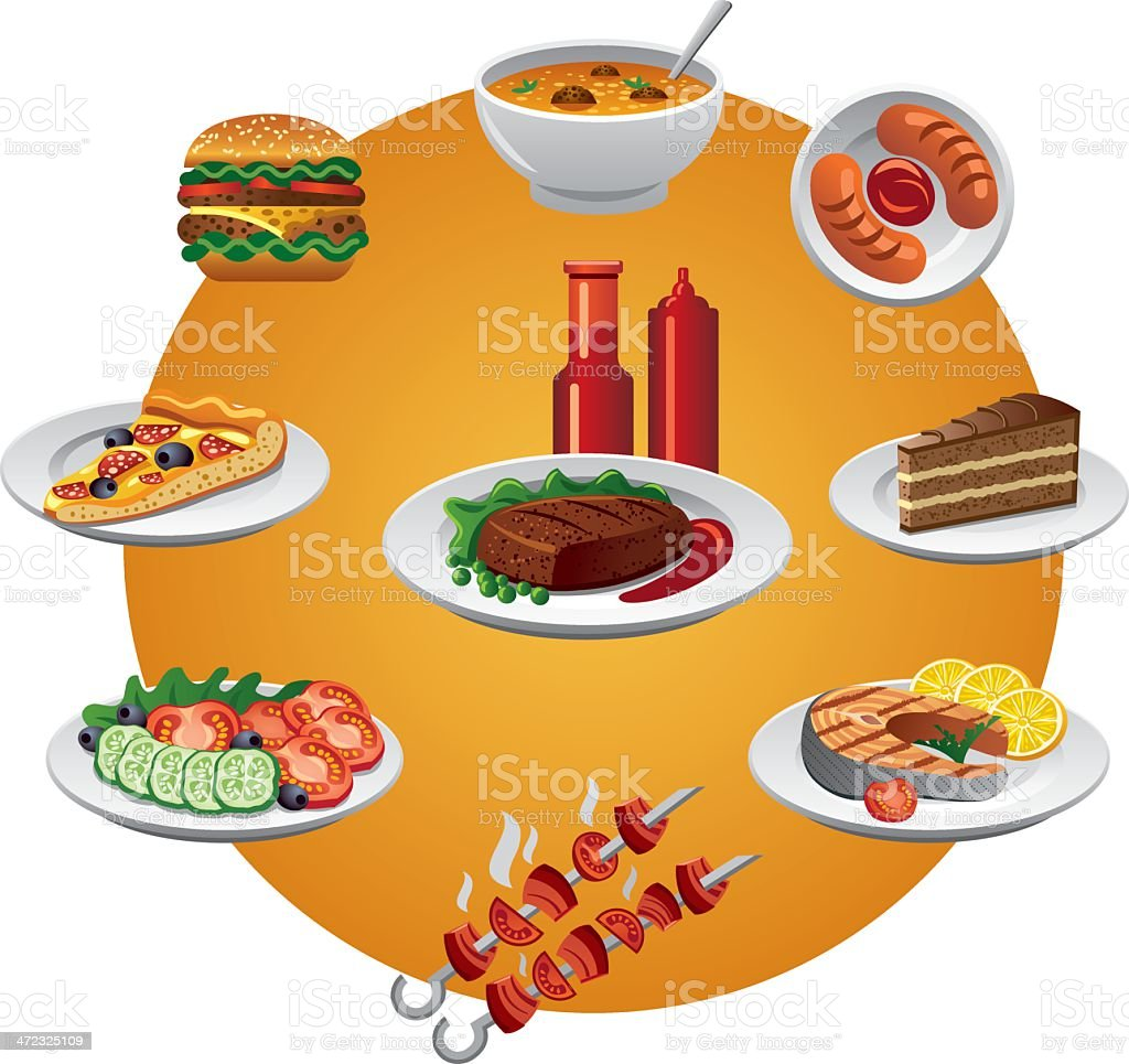 food icon vector art illustration