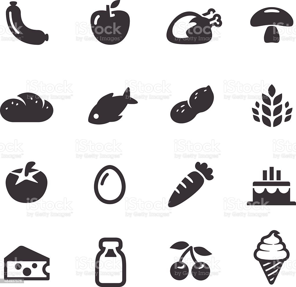 Food Icons - Acme Series vector art illustration