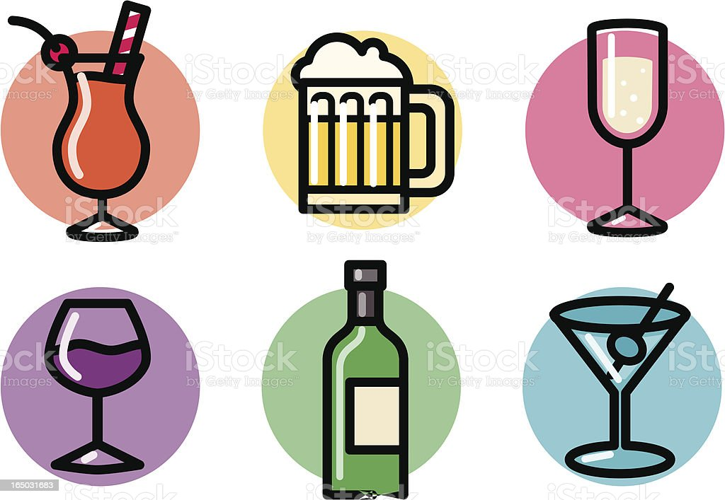 food icons: beverages royalty-free stock vector art