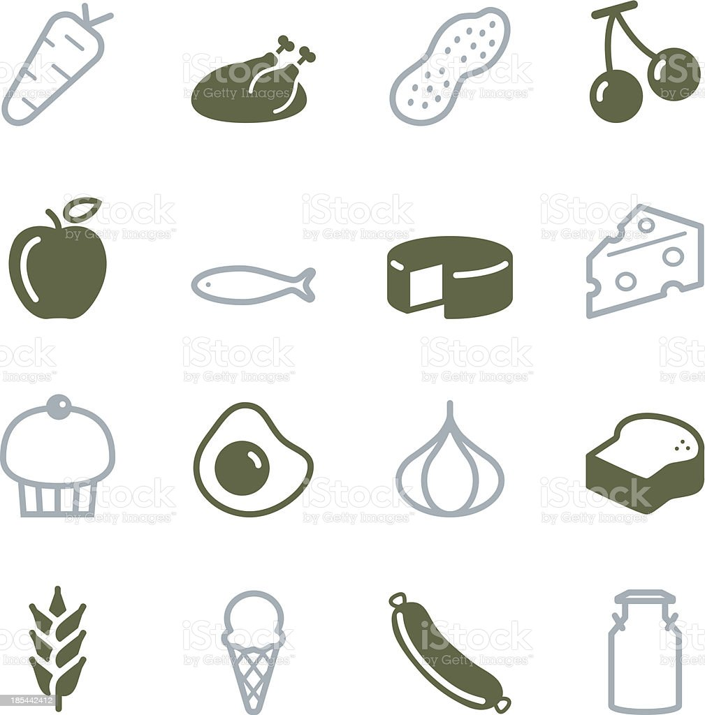Food Icons - Color Series vector art illustration