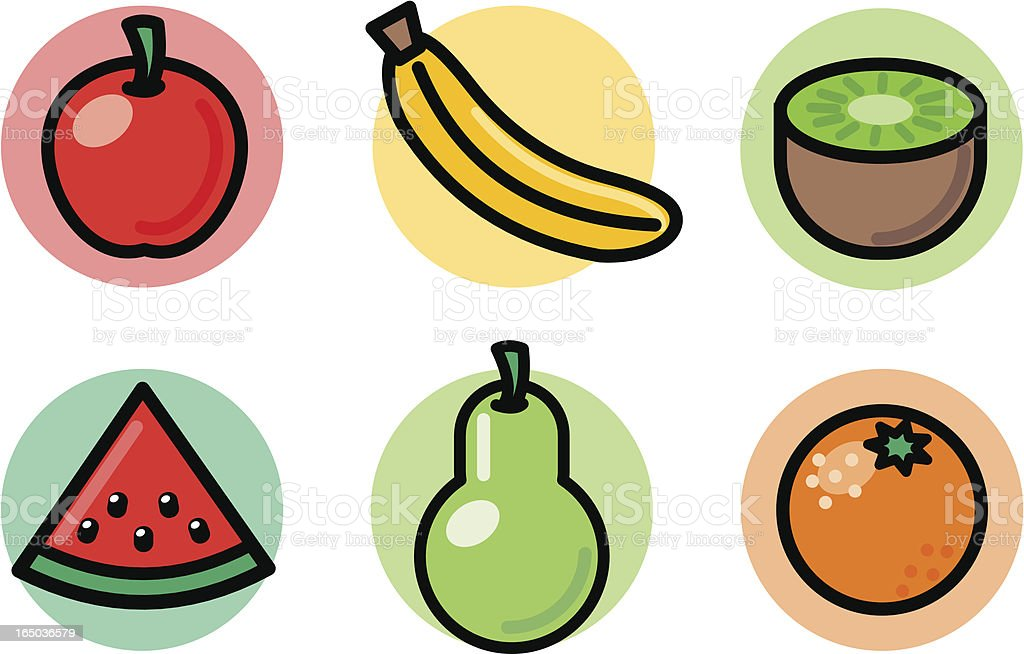 food icons: fruit royalty-free stock vector art