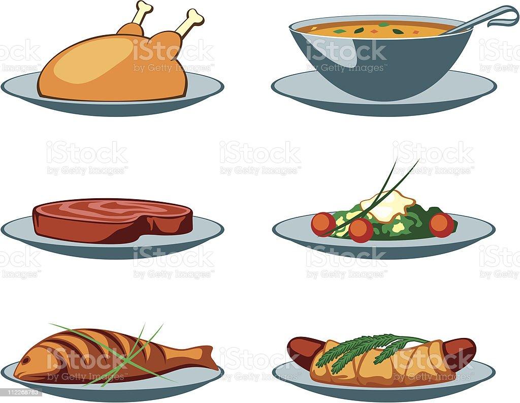 Food Icons main royalty-free stock vector art