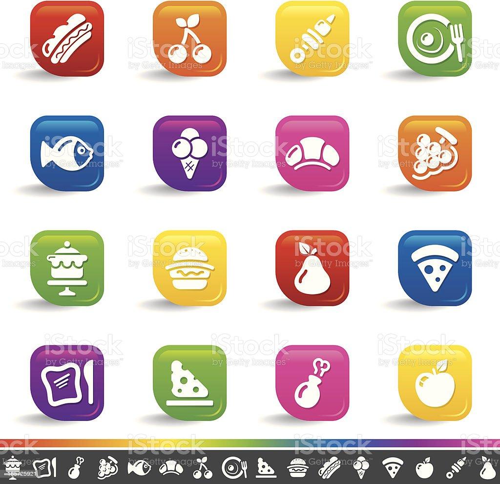 Food icons | Rainbow Series vector art illustration