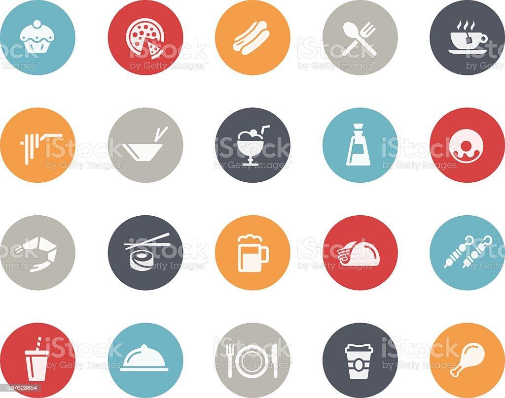 Food Icons Set 2 of 2 // Classics vector art illustration
