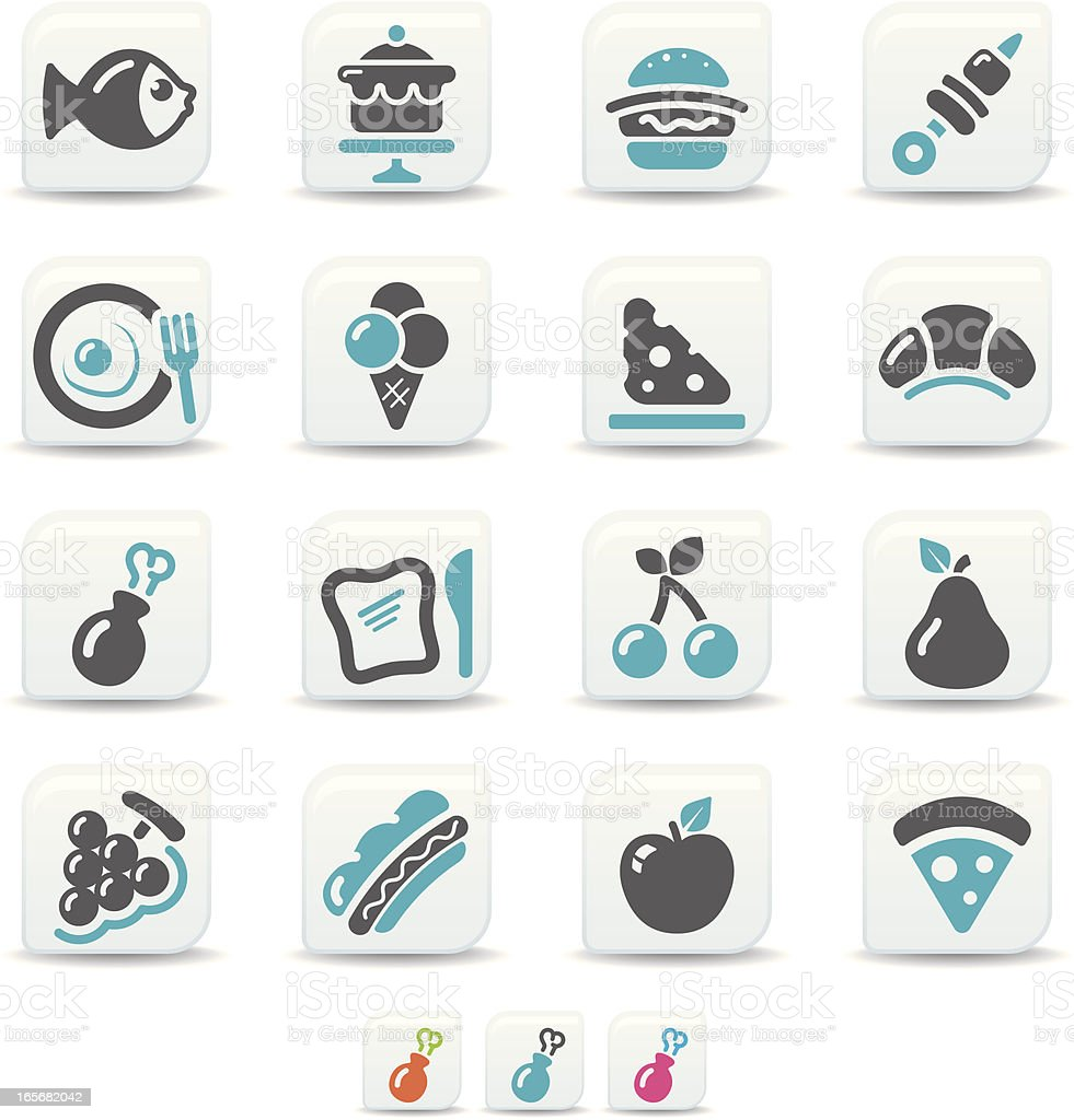 food icons | simicoso collection vector art illustration