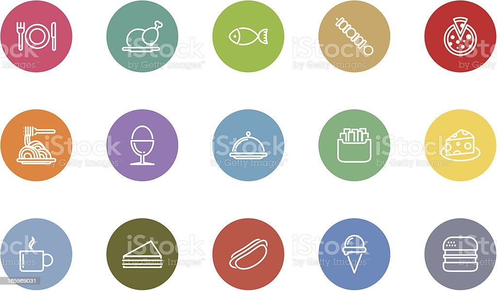 food icons royalty-free stock vector art