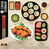 Food Illustration, Japanese food.