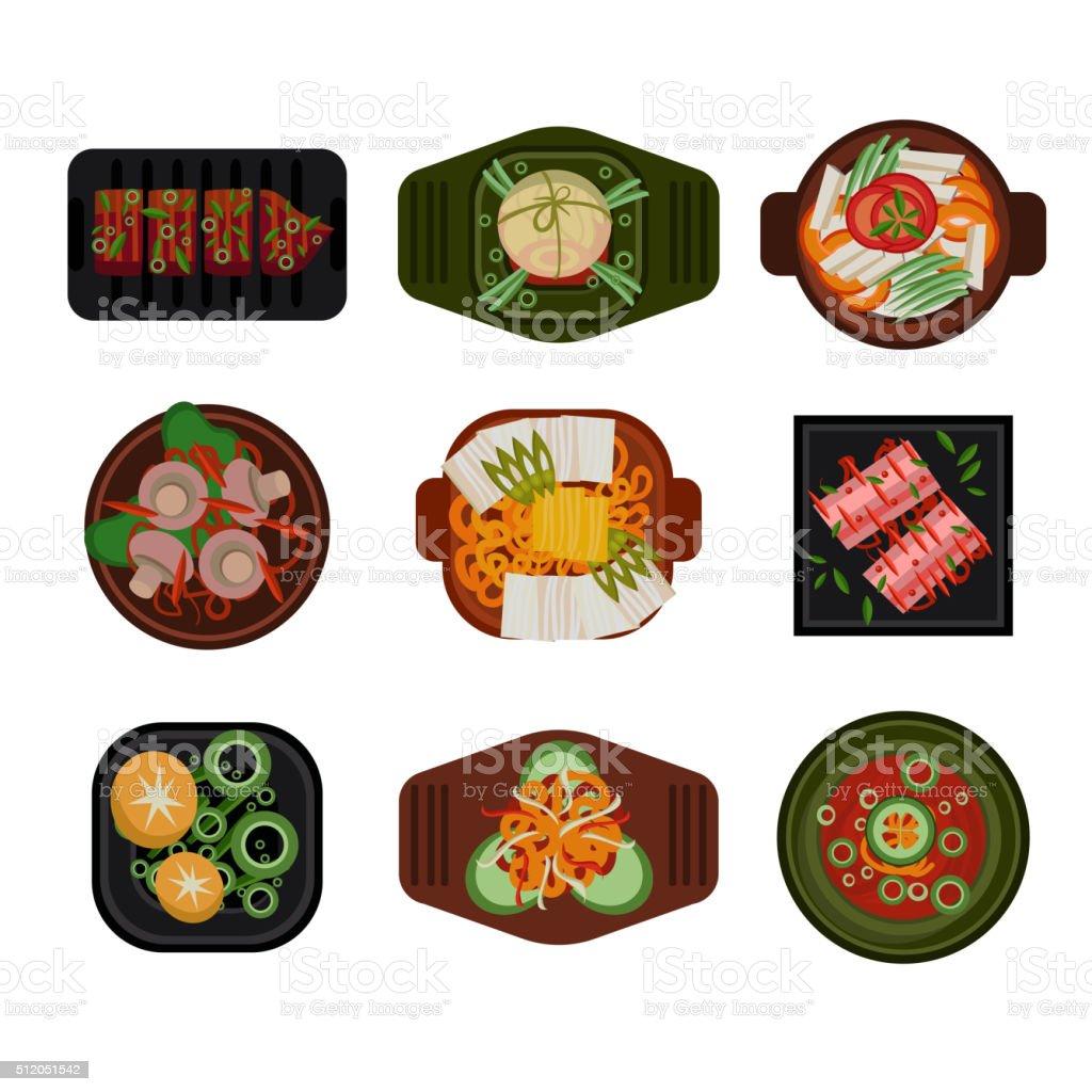 Food Illustration Korean food Vector vector art illustration