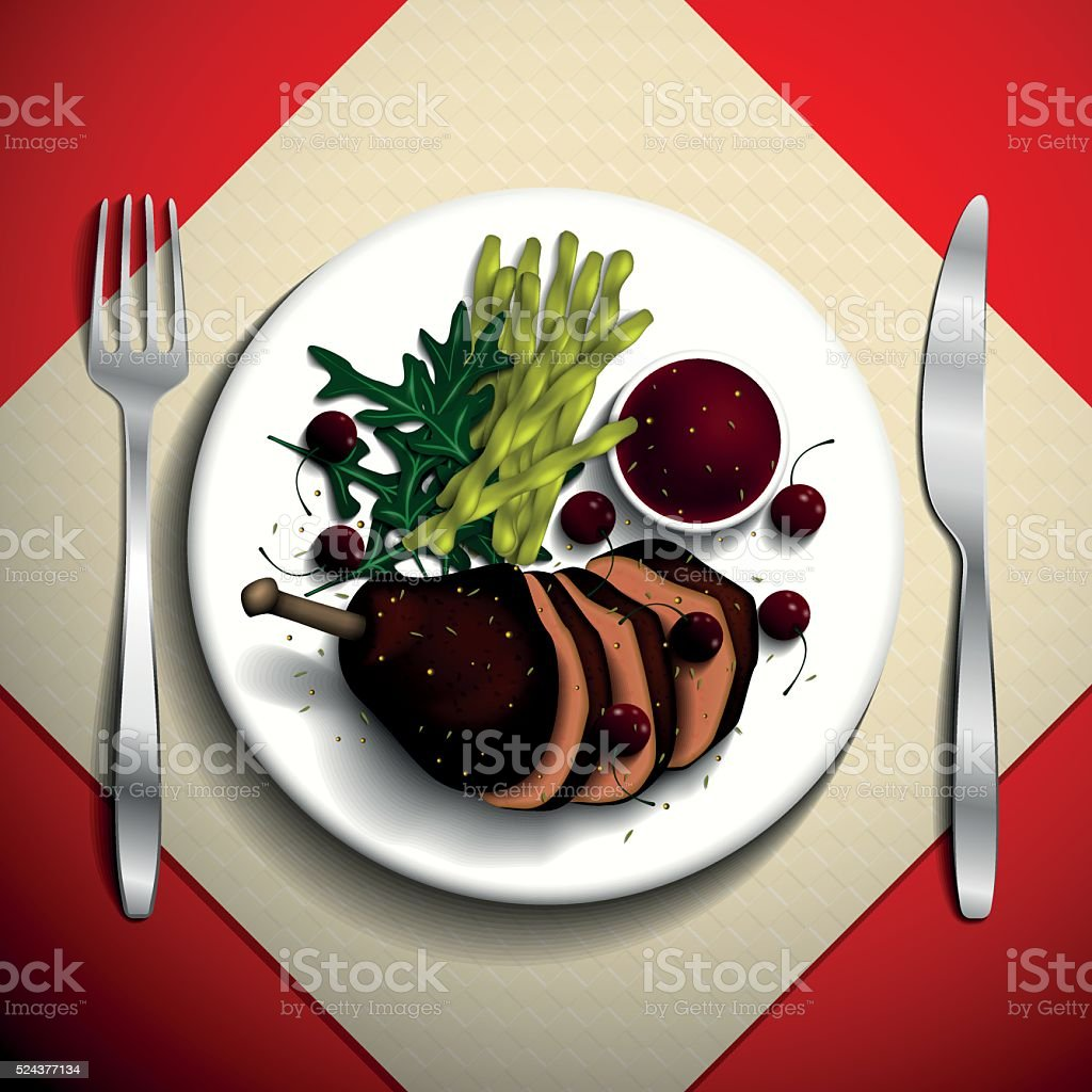 Food illustration. vector art illustration