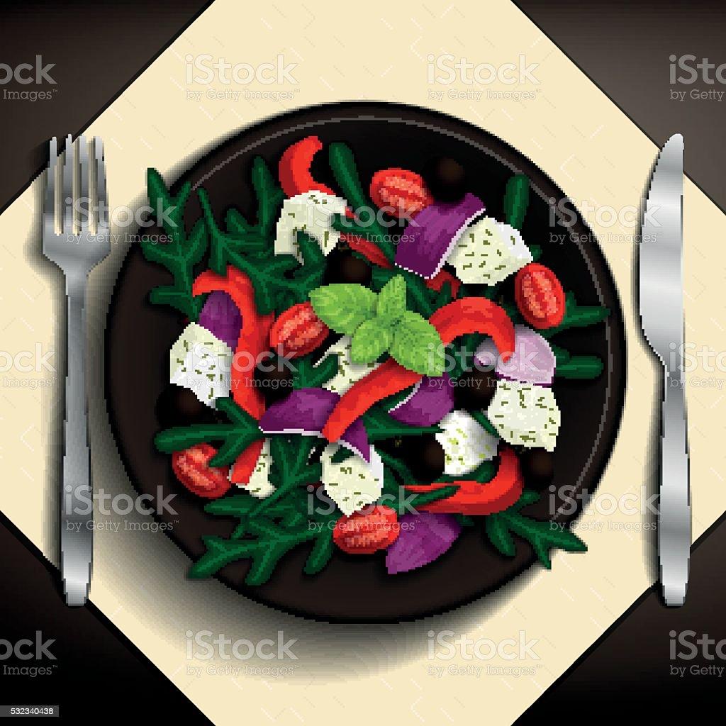 Food illustration. vector art illustration
