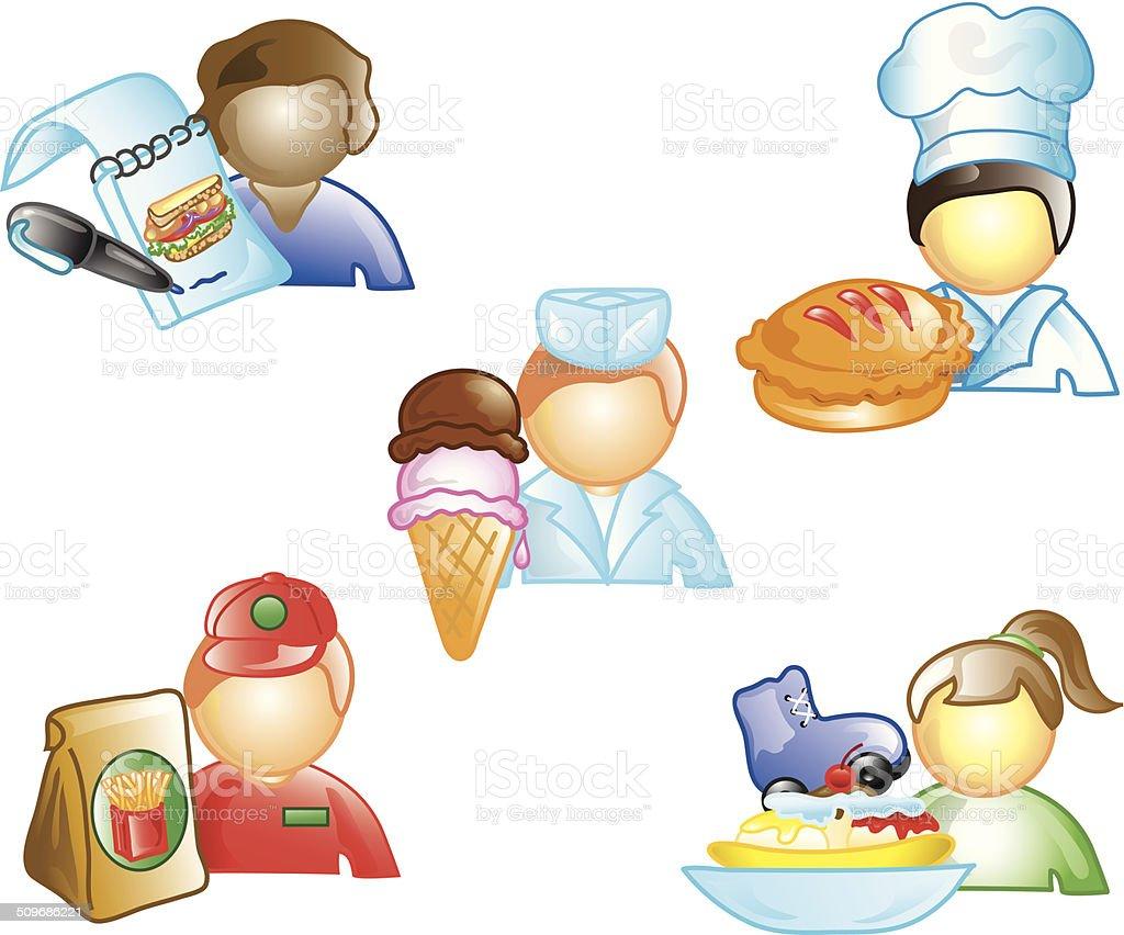 Food Industry icons vector art illustration