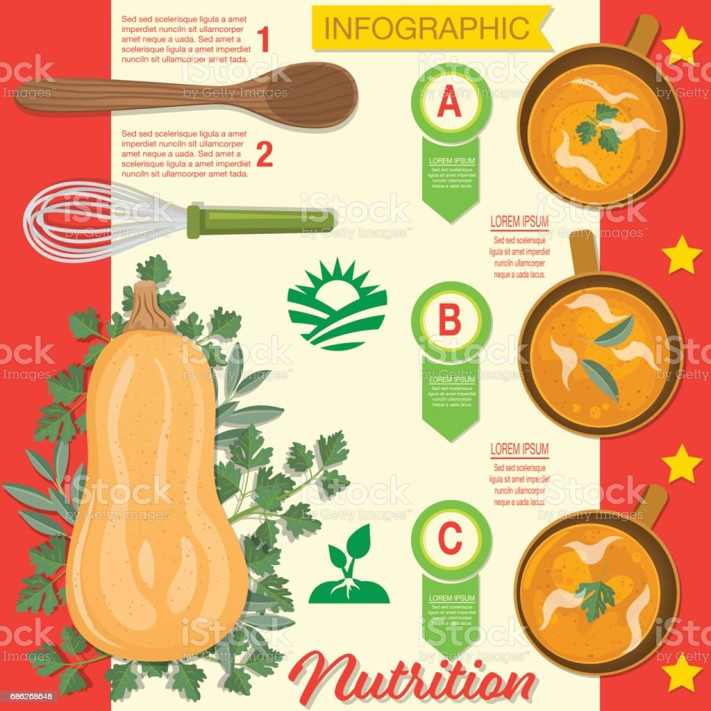 Food Infographic - Vegetables vector art illustration