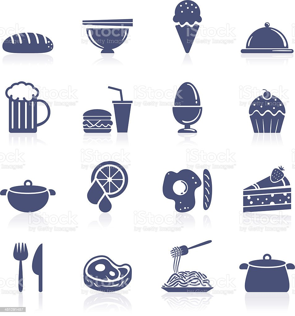 Food interface icon vector art illustration