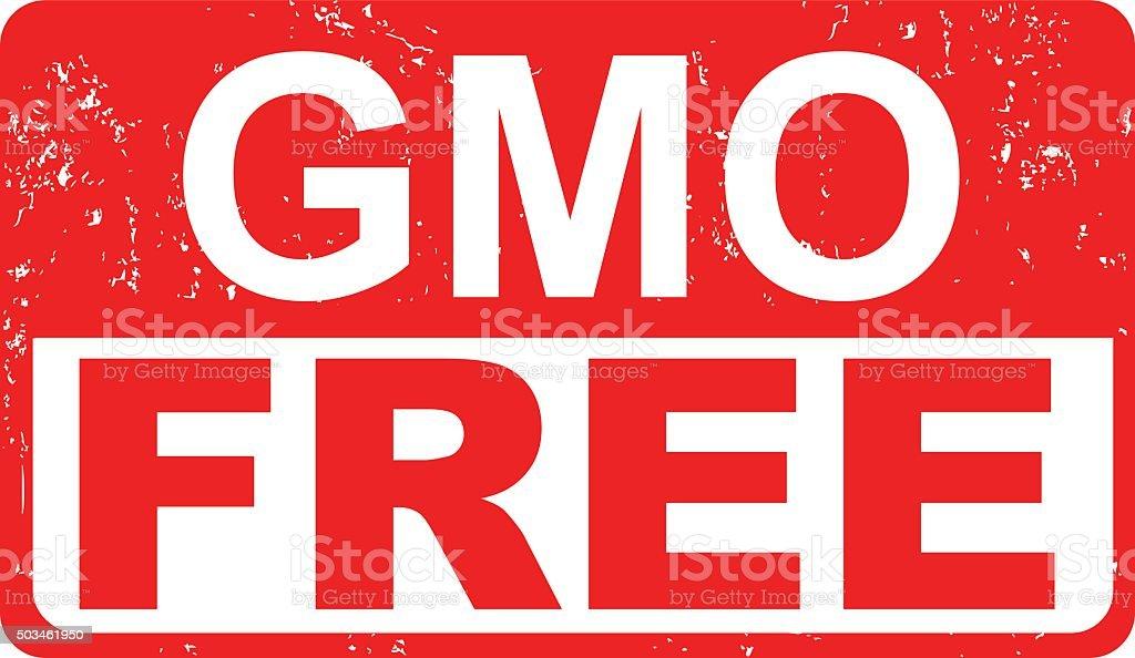 GMO FREE Food Label vector art illustration
