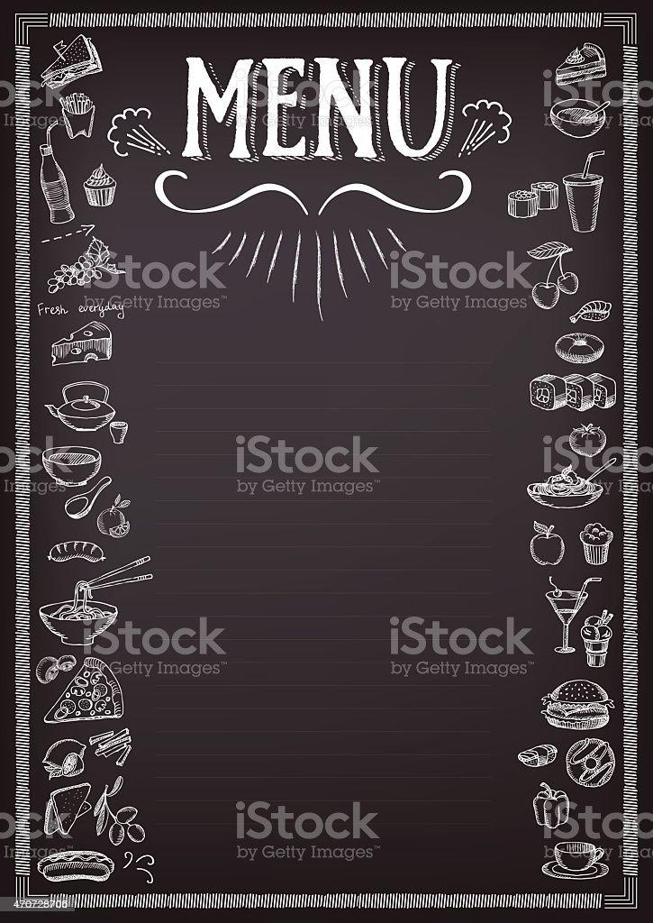 Food menu. vector art illustration